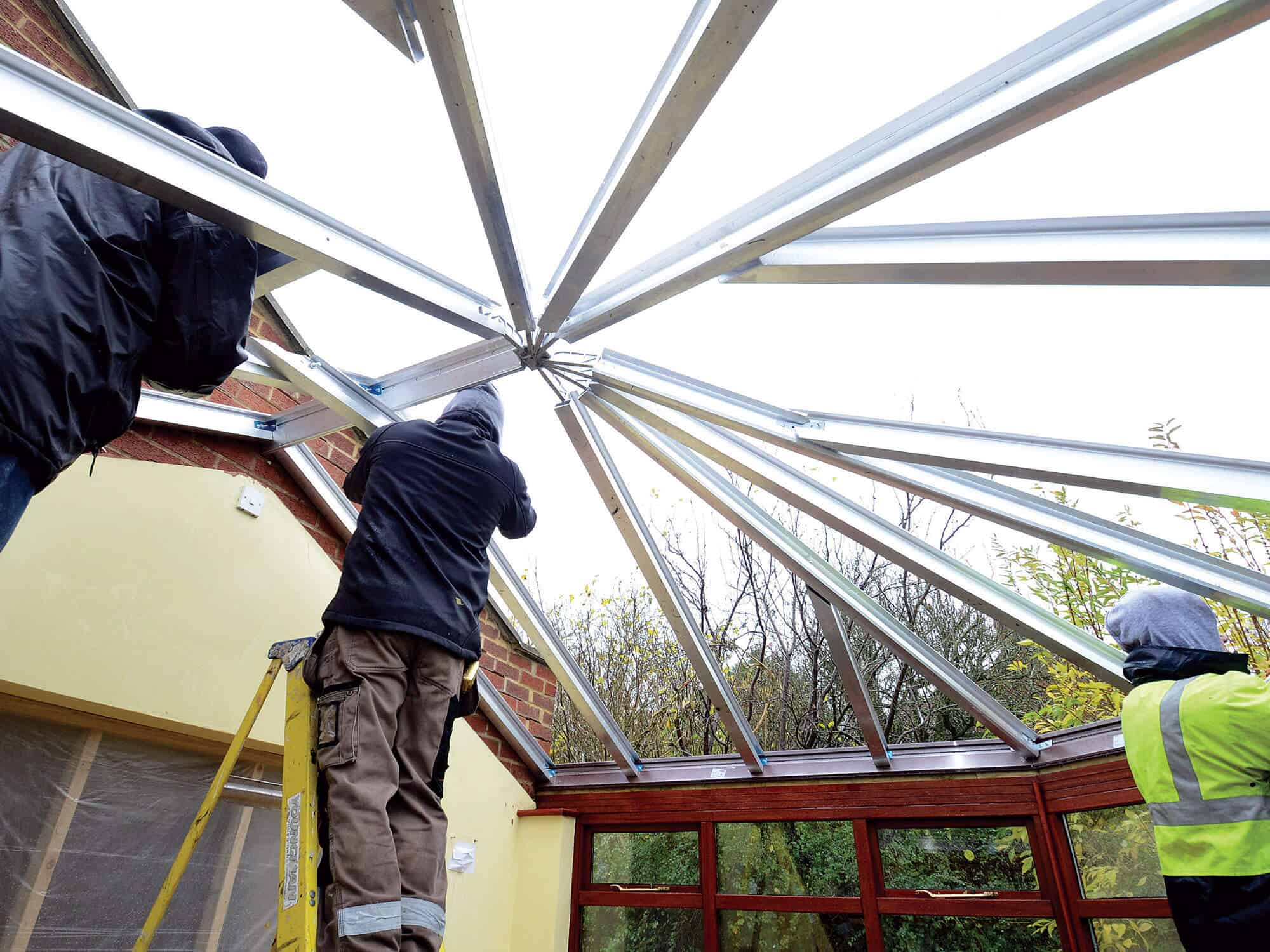 Guardian Conservatory Roof Installation