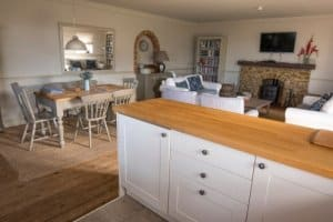 Convert conservatory into a rustic kitchen diner